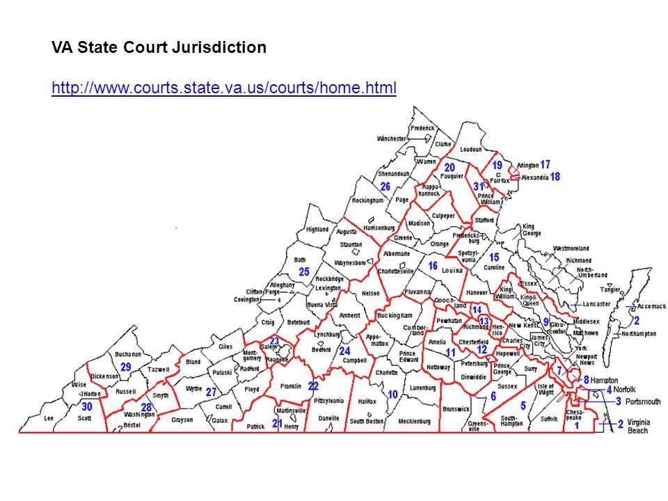 VA State Court Jurisdiction