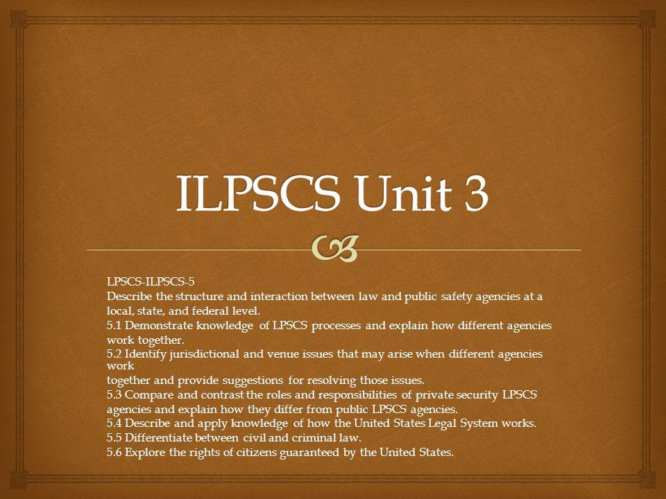ILPSCS Unit 3 LPSCS-ILPSCS-5