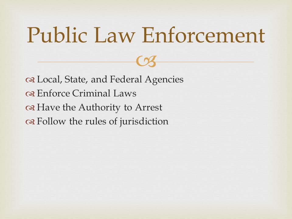 Public Law Enforcement