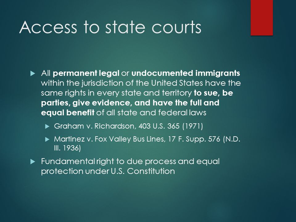 Access to state courts