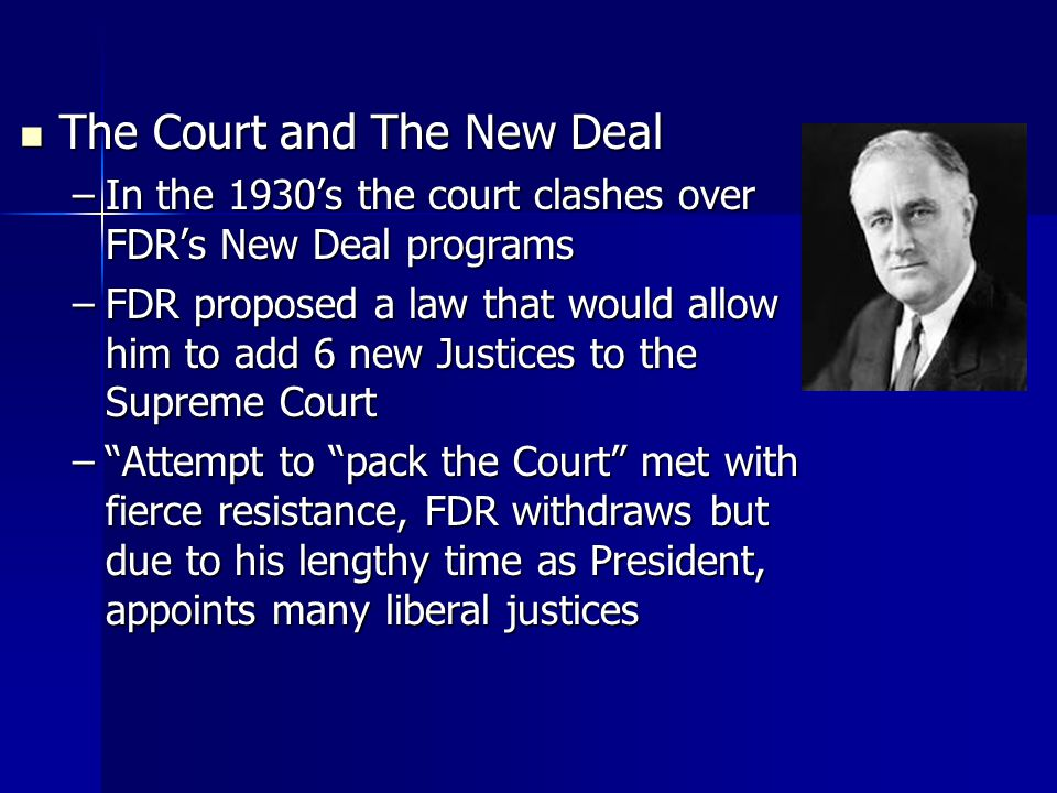 The Court and The New Deal