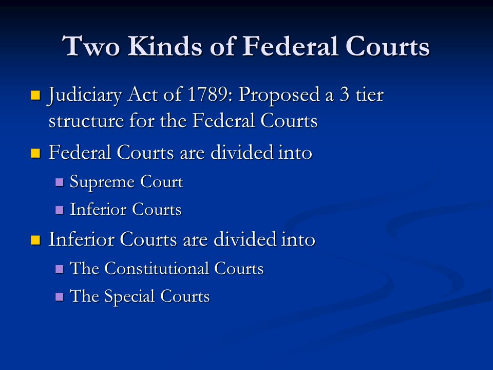Two Kinds of Federal Courts