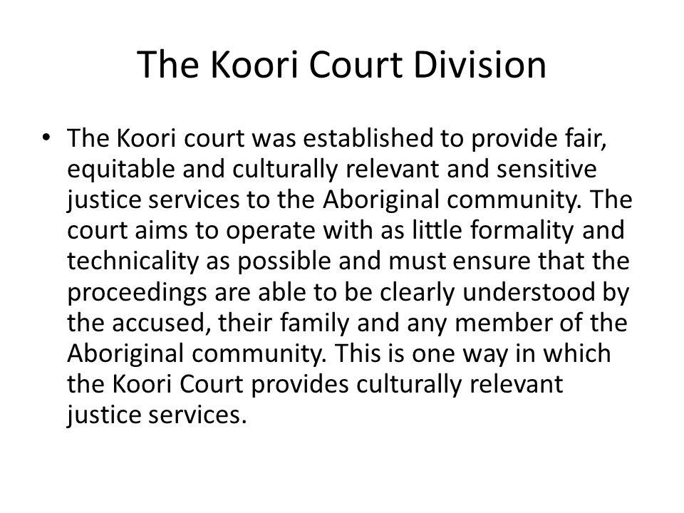 The Koori Court Division