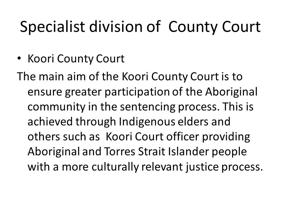 Specialist division of County Court