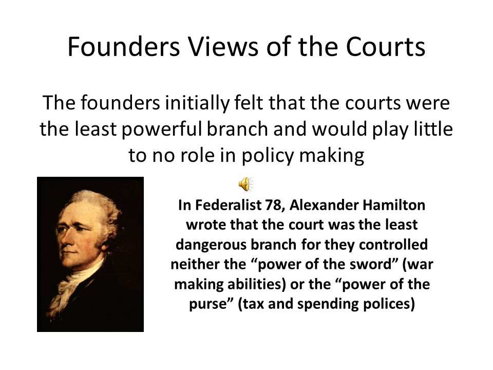 Founders Views of the Courts