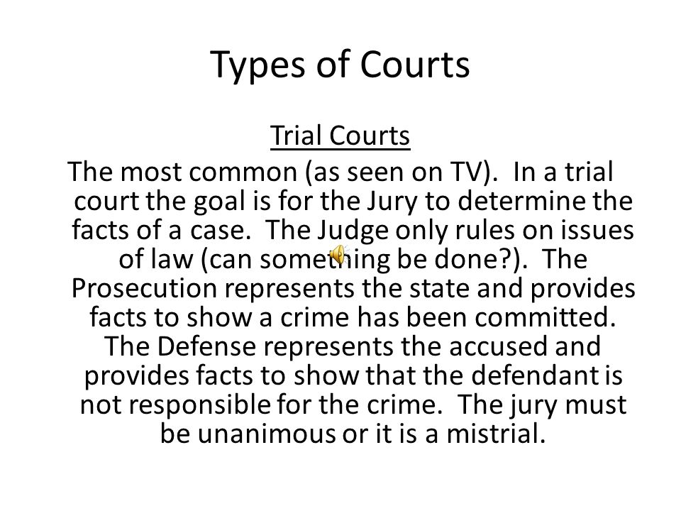 Types of Courts