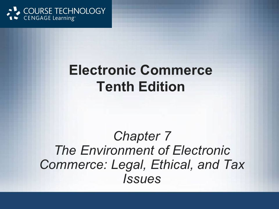 Electronic Commerce Tenth Edition