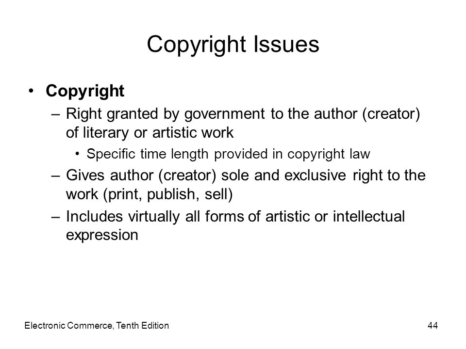 Copyright Issues Copyright