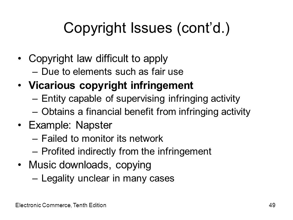 Copyright Issues (cont'd.)