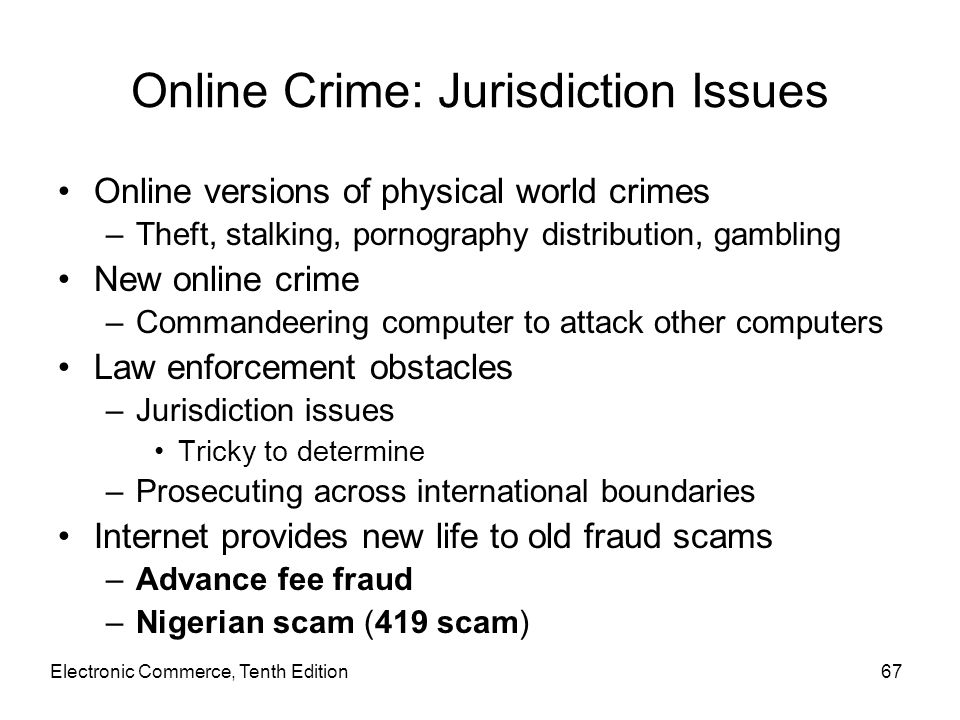 Online Crime: Jurisdiction Issues