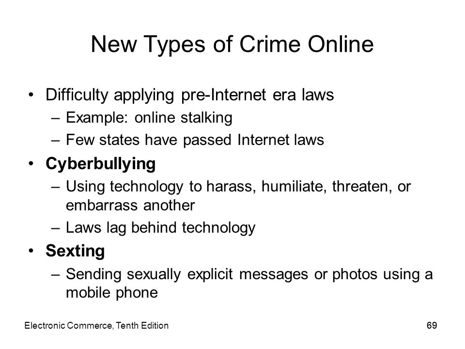 New Types of Crime Online