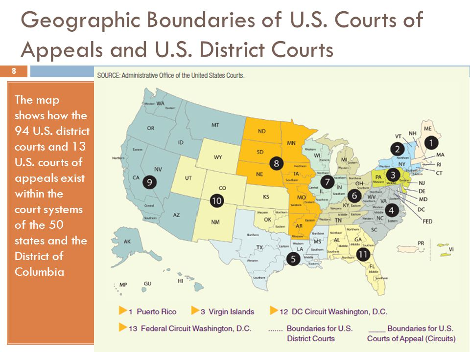 Us Appeals Court Map - Map of us circuit courts