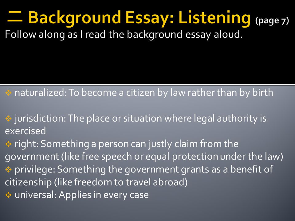 二 Background Essay: Listening (page 7)
