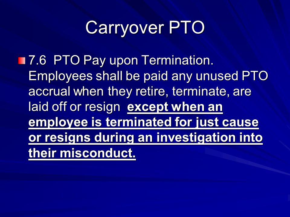 Carryover PTO