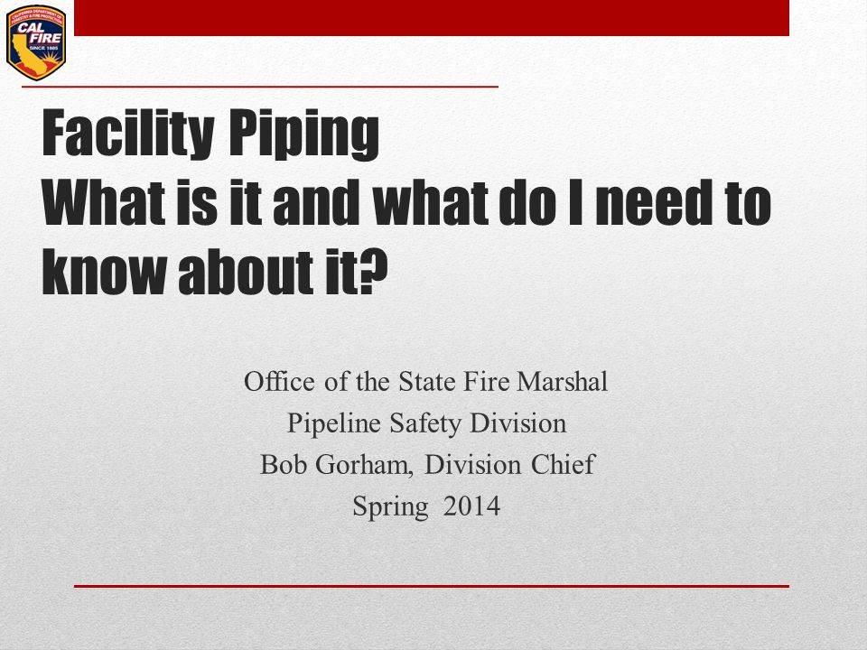 Facility Piping What is it and what do I need to know about it