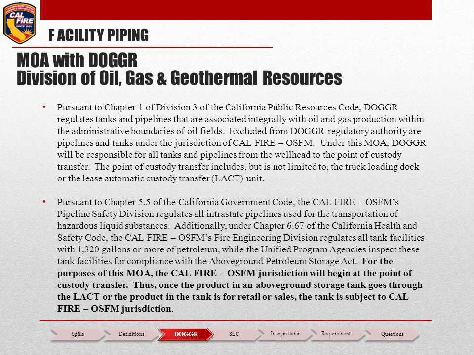 Division of Oil, Gas & Geothermal Resources