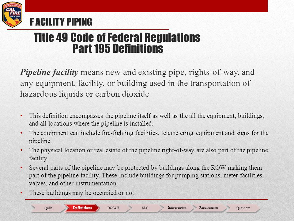 Title 49 Code of Federal Regulations