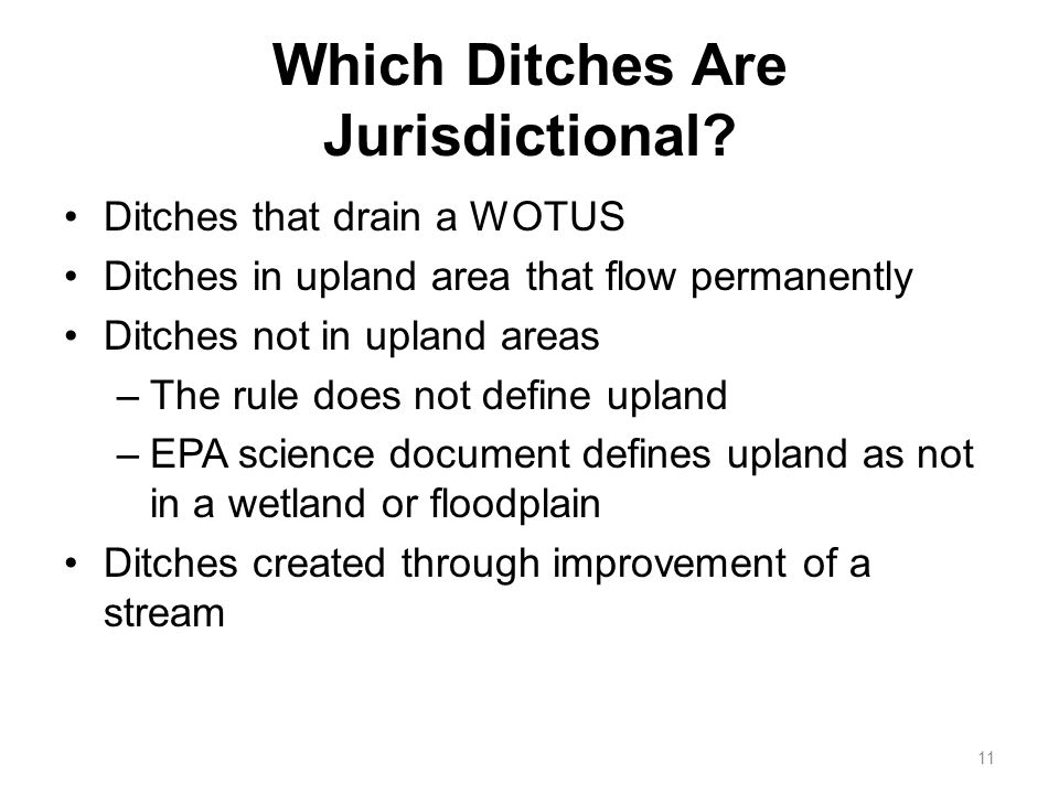 Which Ditches Are Jurisdictional