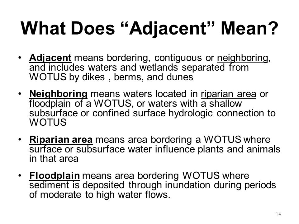 What Does Adjacent Mean