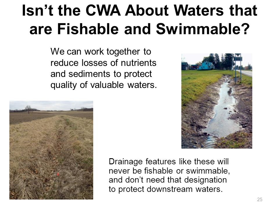 Isn't the CWA About Waters that are Fishable and Swimmable