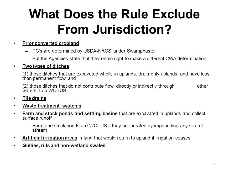 What Does the Rule Exclude From Jurisdiction