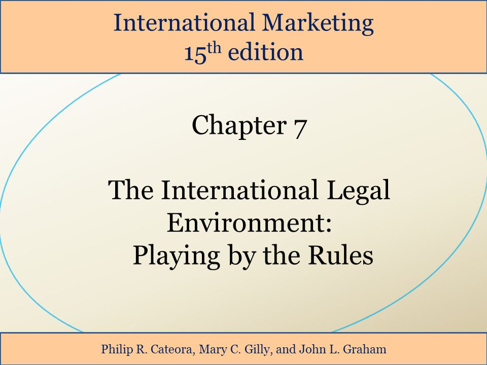 The International Legal Environment: Playing by the Rules