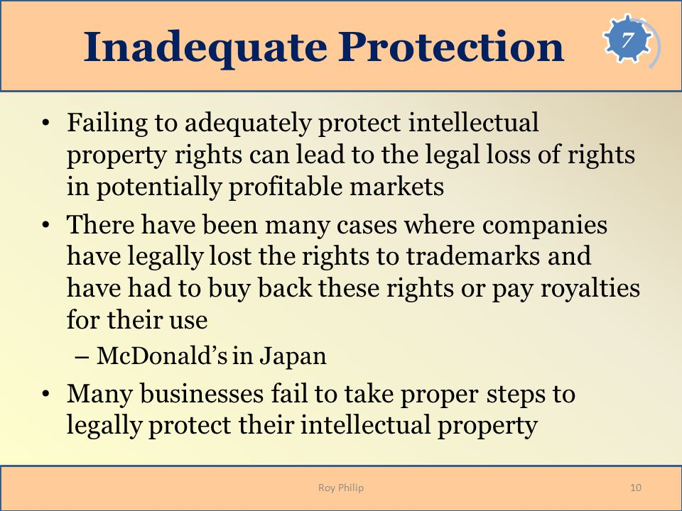 Inadequate Protection