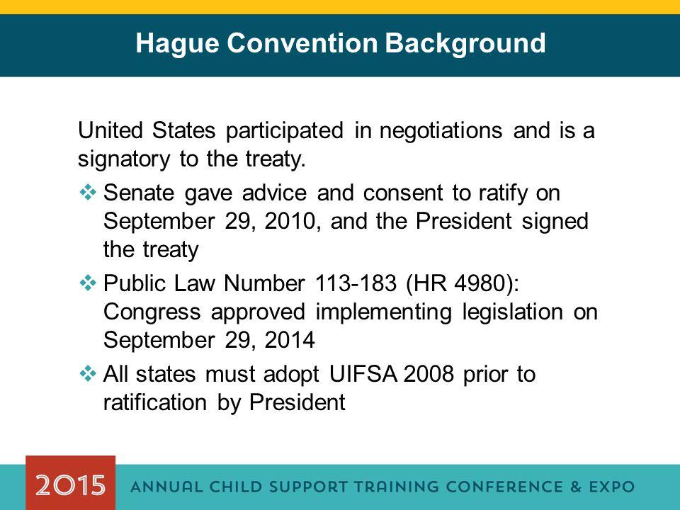 Hague Convention Background