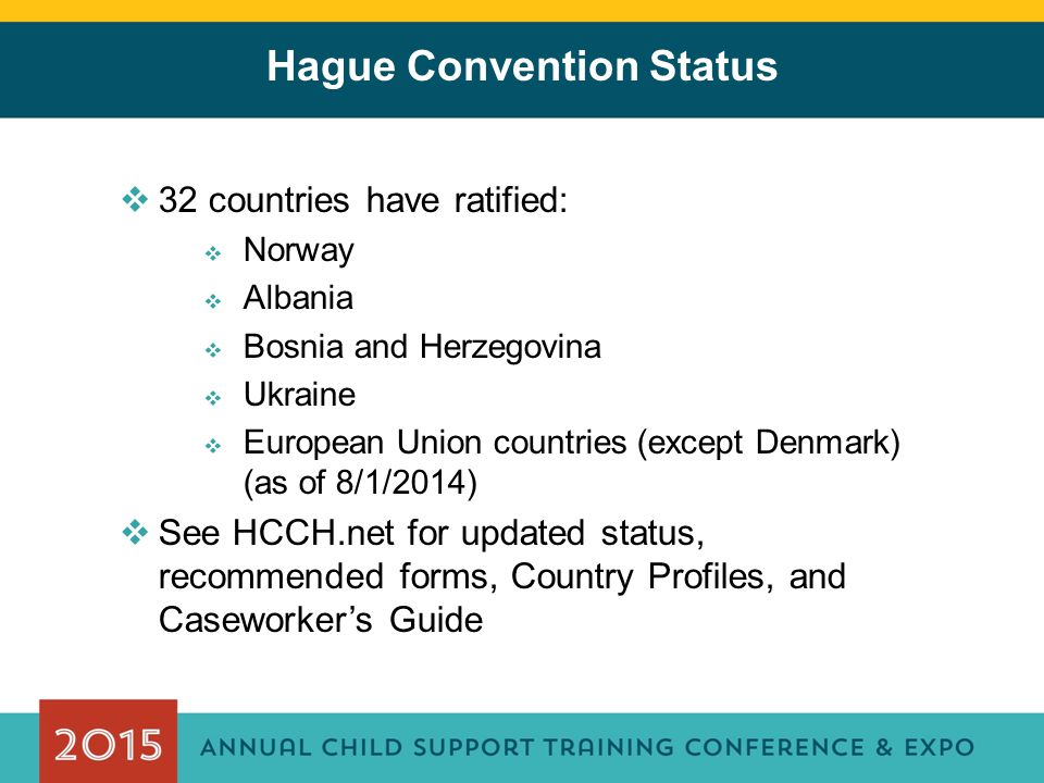 Hague Convention Status