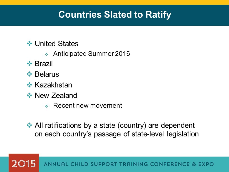 Countries Slated to Ratify