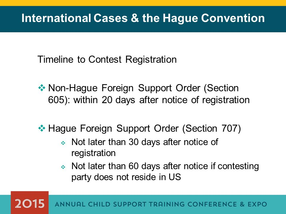 International Cases & the Hague Convention