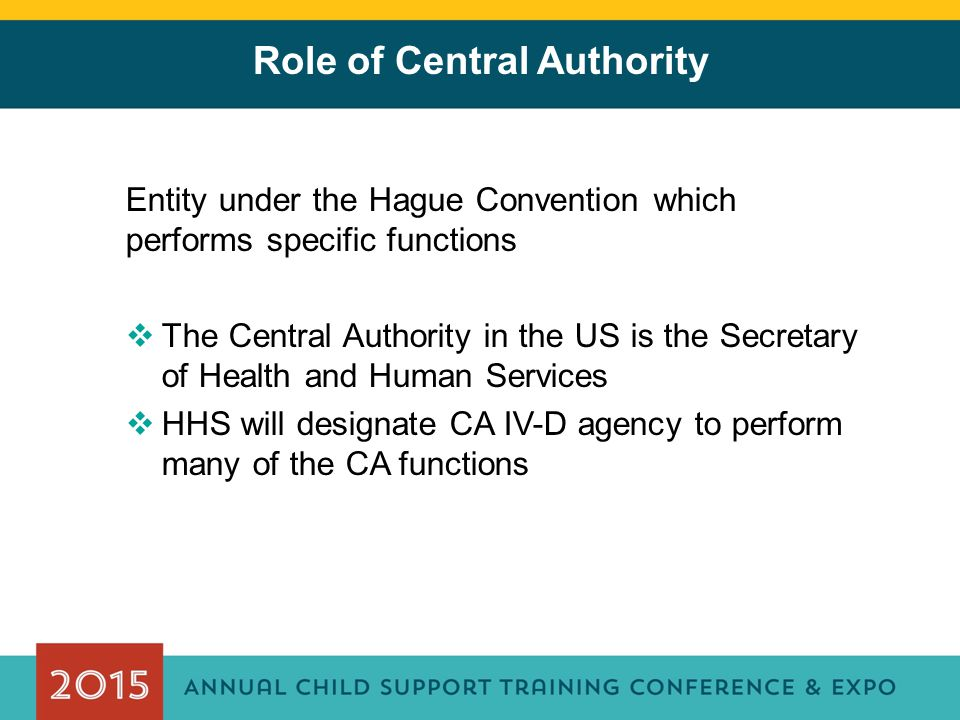 Role of Central Authority