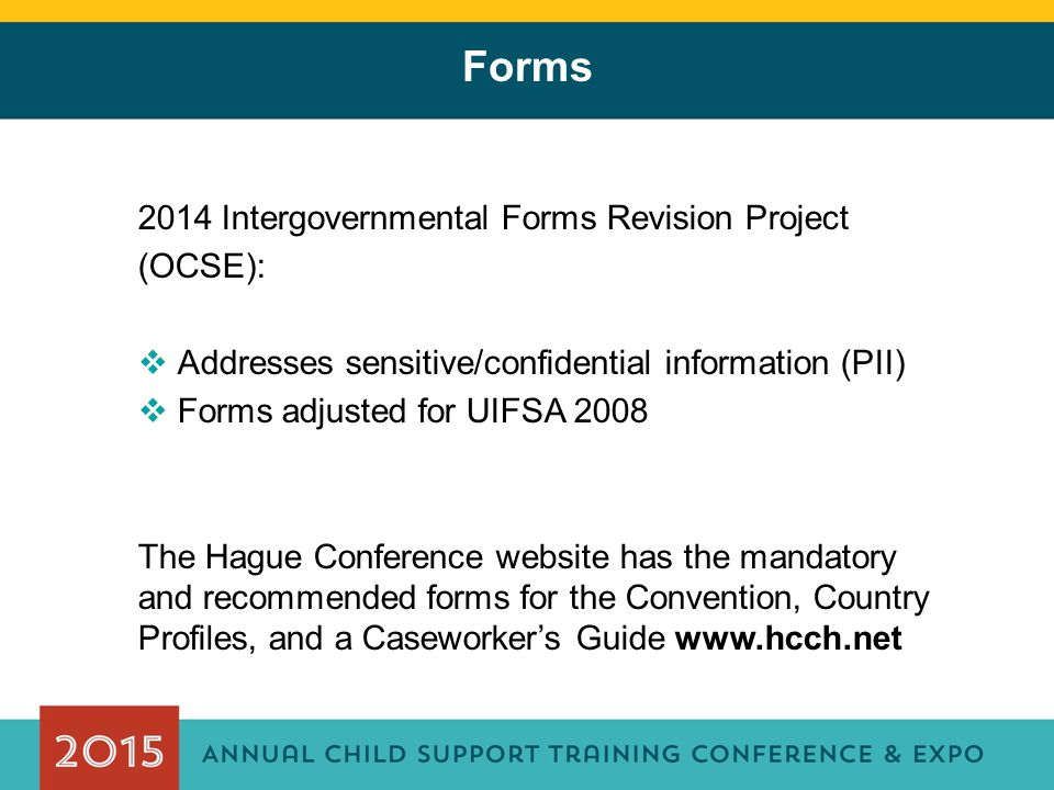 Forms 2014 Intergovernmental Forms Revision Project (OCSE):