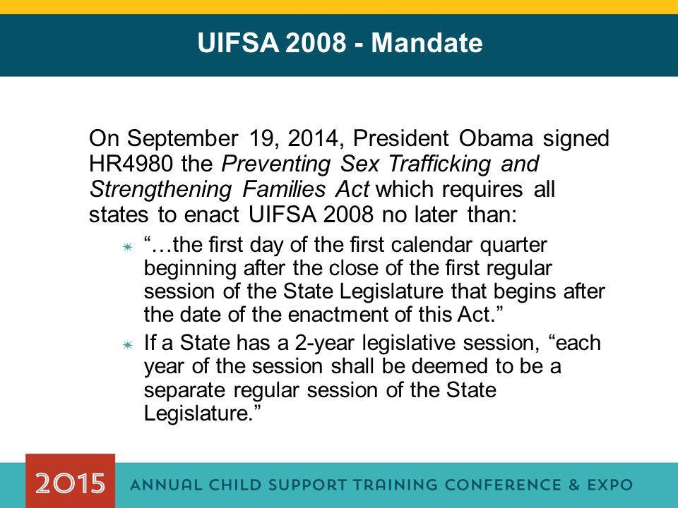 UIFSA 2008 - Mandate