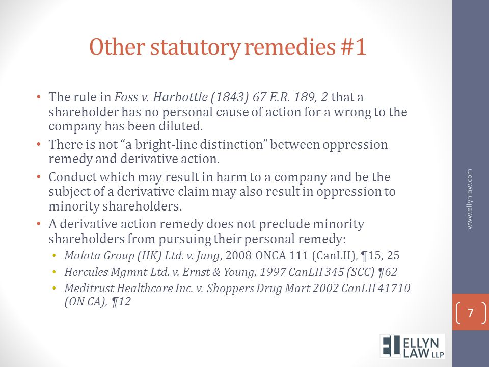 Other statutory remedies #1