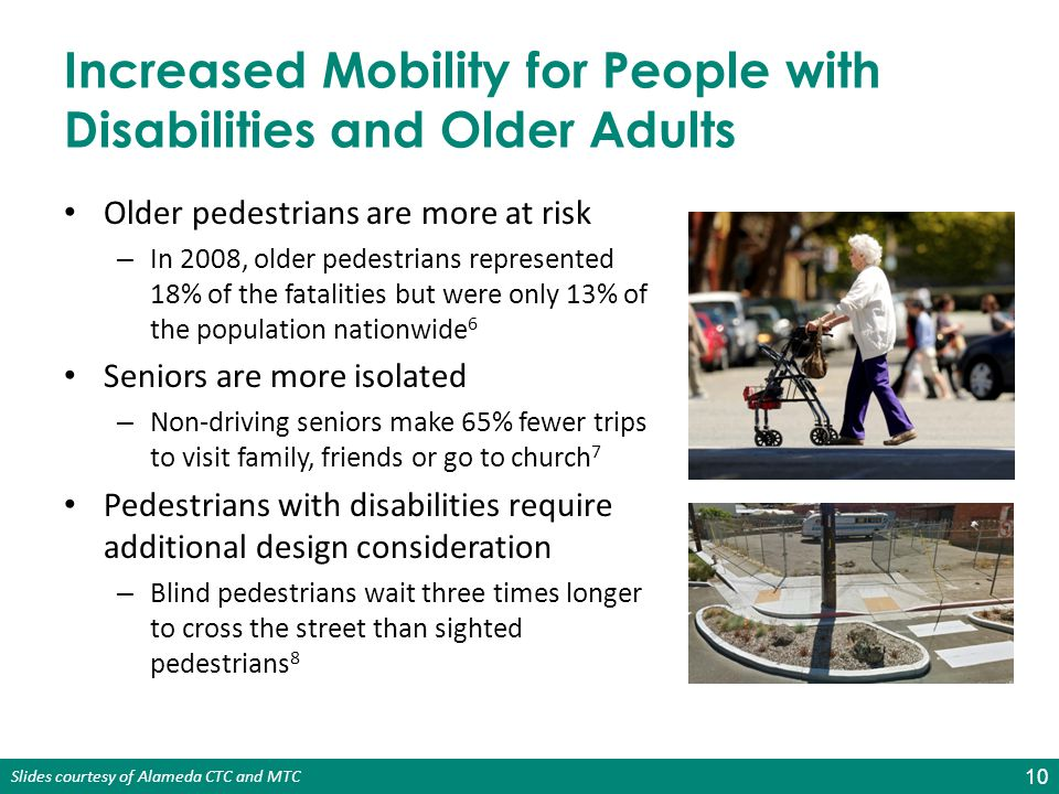 Increased Mobility for People with Disabilities and Older Adults