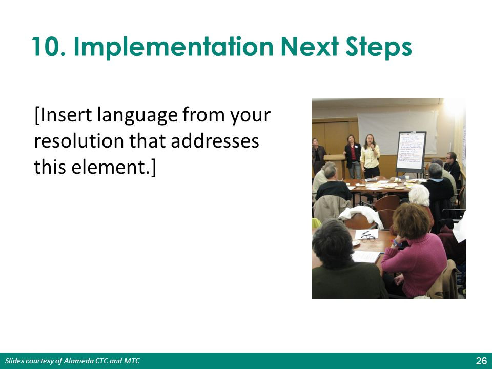 10. Implementation Next Steps