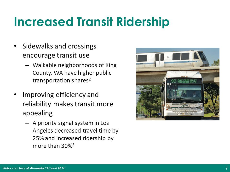 Increased Transit Ridership