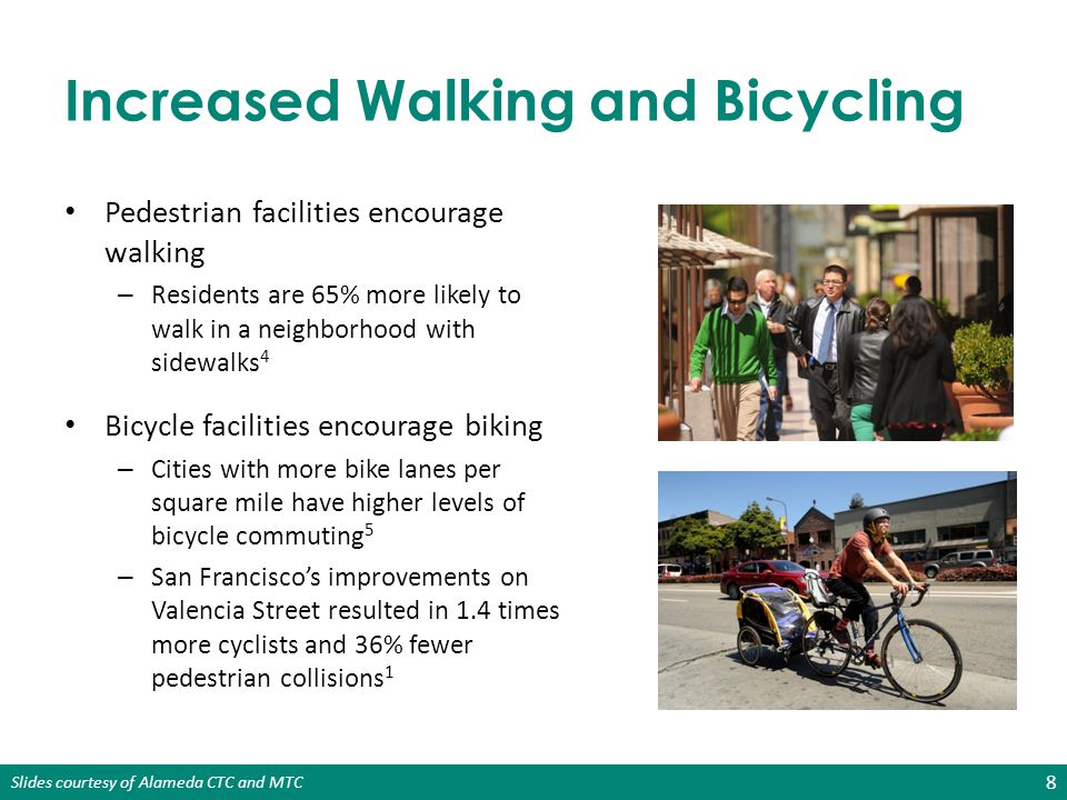 Increased Walking and Bicycling