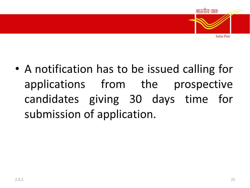 Notification of Vacancy