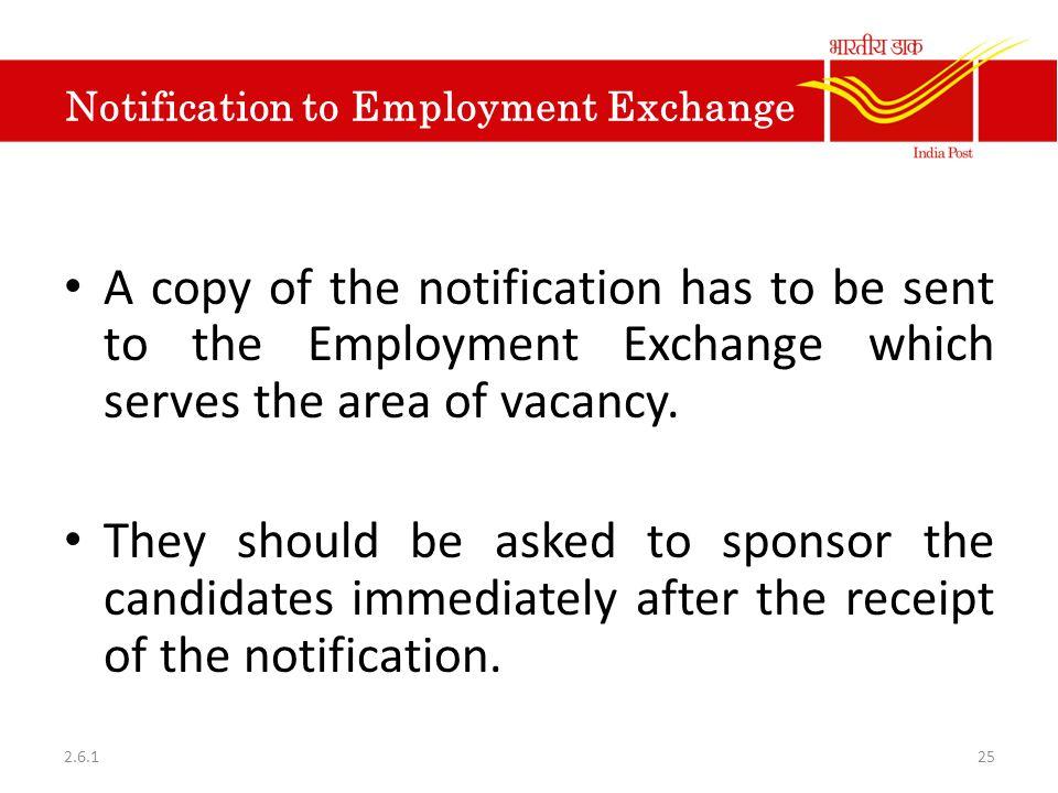 Notification to Employment Exchange