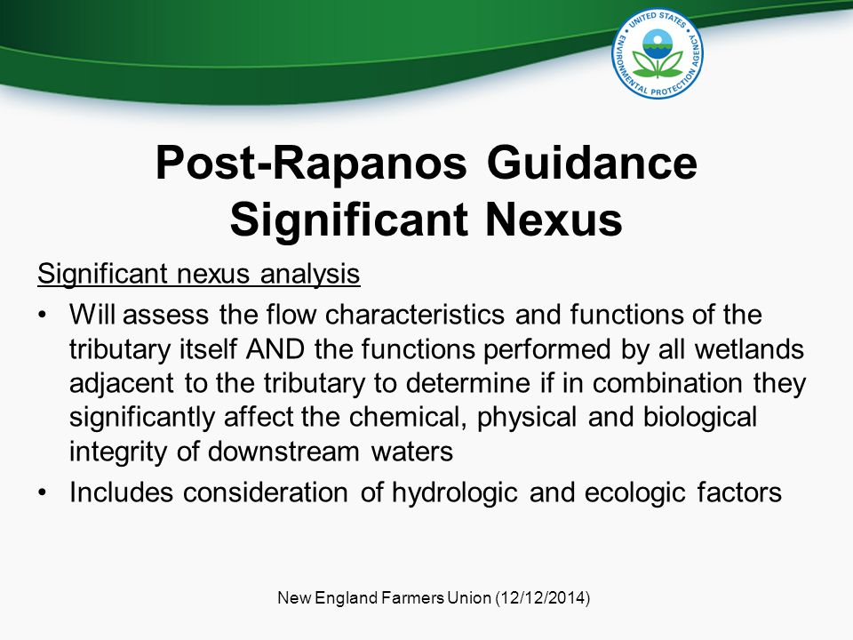 Post-Rapanos Guidance Significant Nexus