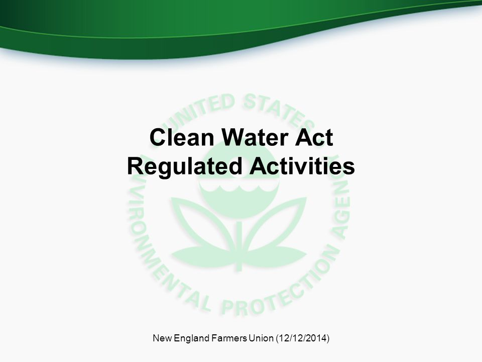 Clean Water Act Regulated Activities