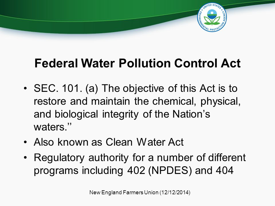 Federal Water Pollution Control Act