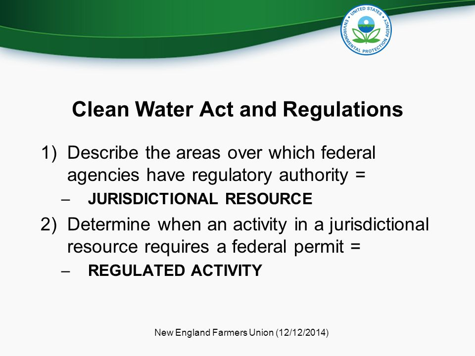 Clean Water Act and Regulations