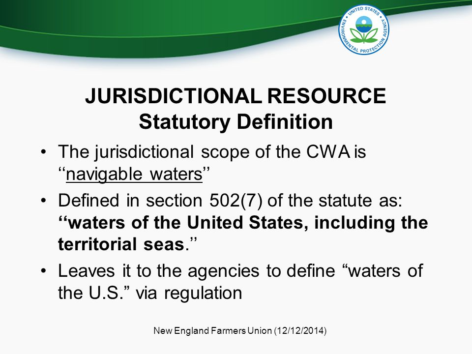 JURISDICTIONAL RESOURCE Statutory Definition
