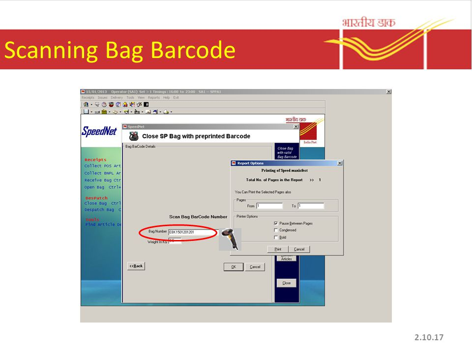 Scanning Bag Barcode