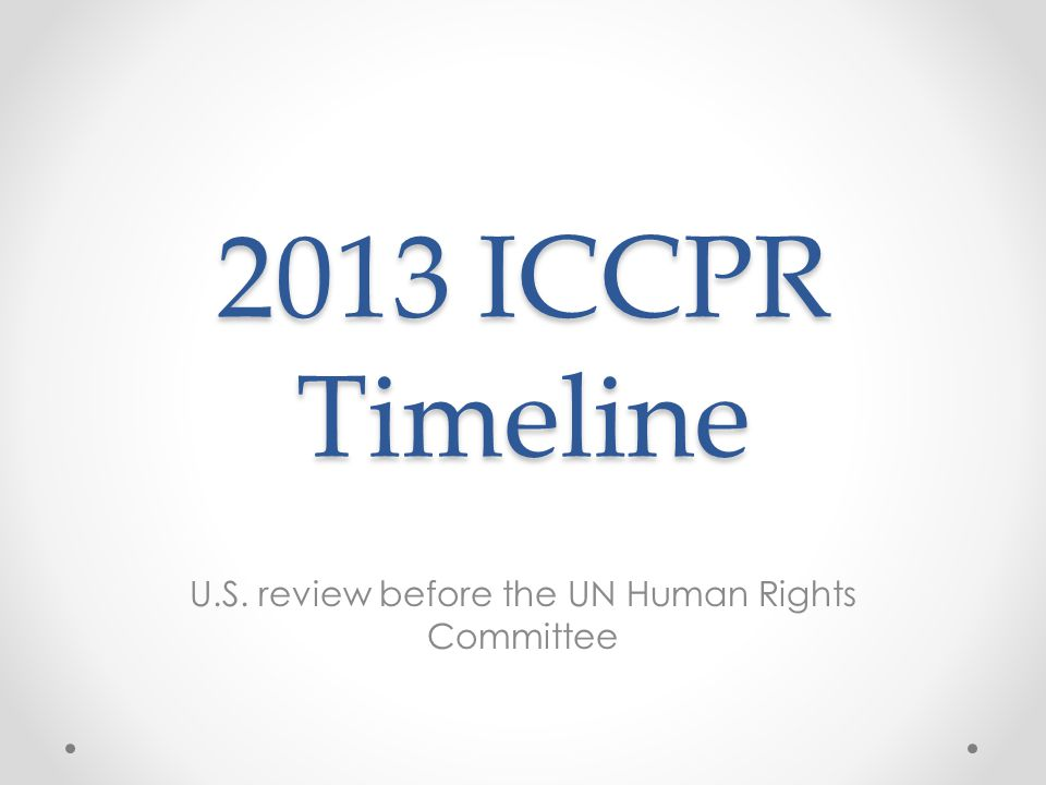 U.S. review before the UN Human Rights Committee