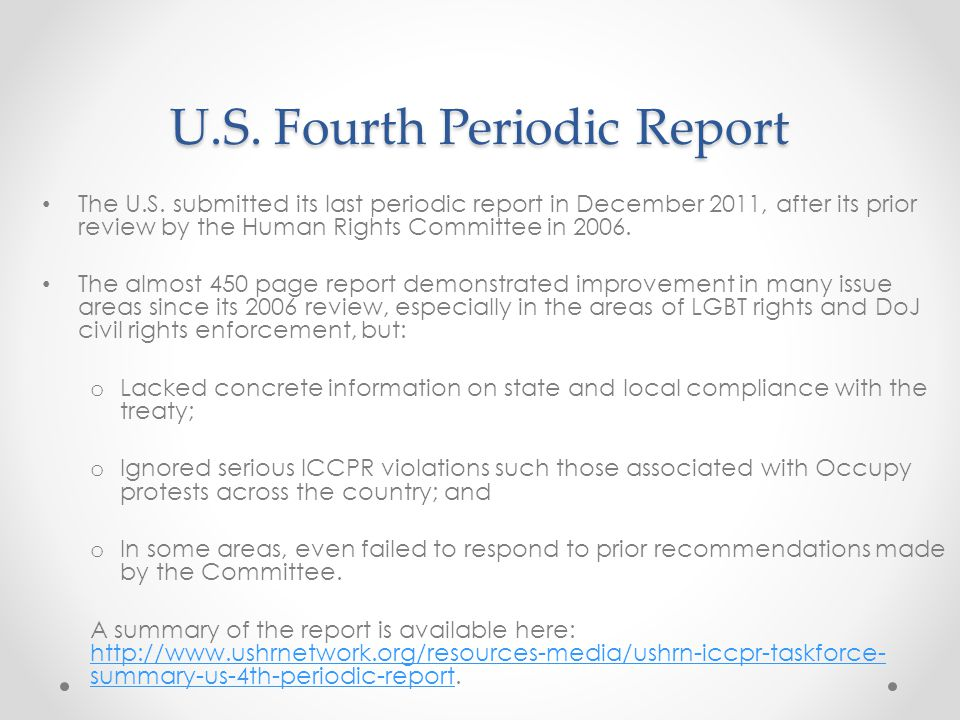 U.S. Fourth Periodic Report