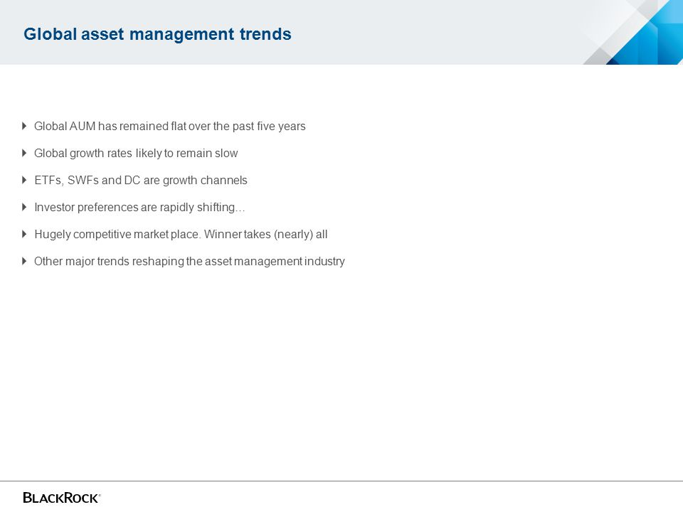 Global asset management trends